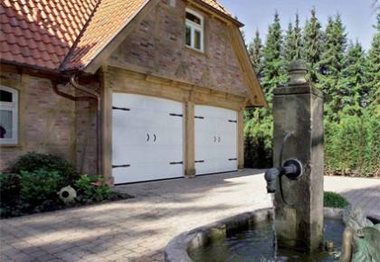 Puertas de garaje seccionales de madera