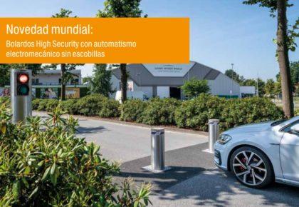 Bolardos High Security con automatismo electromecánico integrado